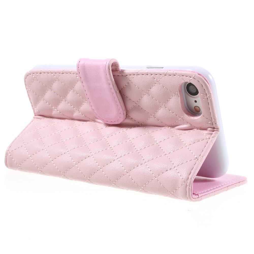 Plånboksfodral iPhone 7/8/SE 2020 Quilted rosa