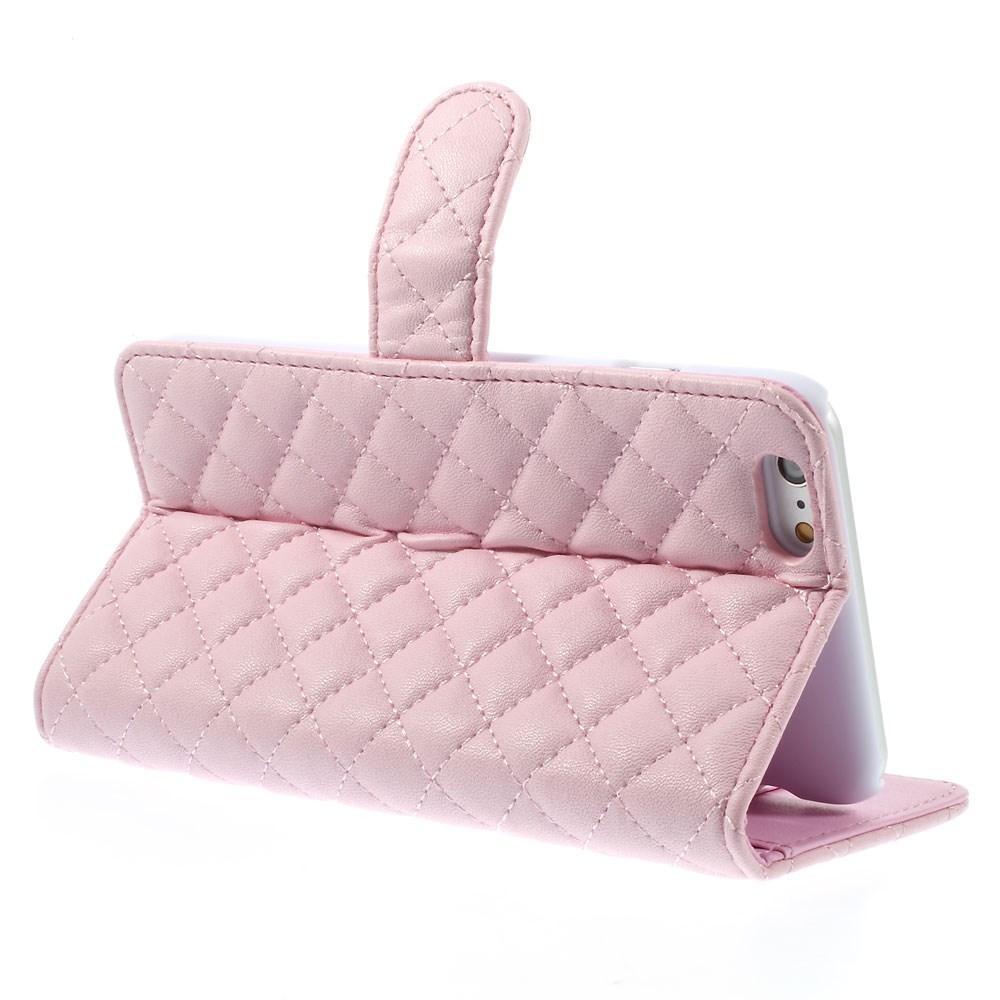 Plånboksfodral iPhone 6 Plus/6S Plus Quilted rosa