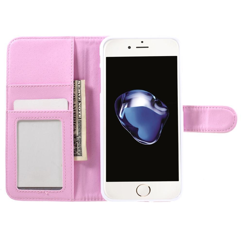 Plånboksfodral iPhone 7 Plus/8 Plus Quilted rosa