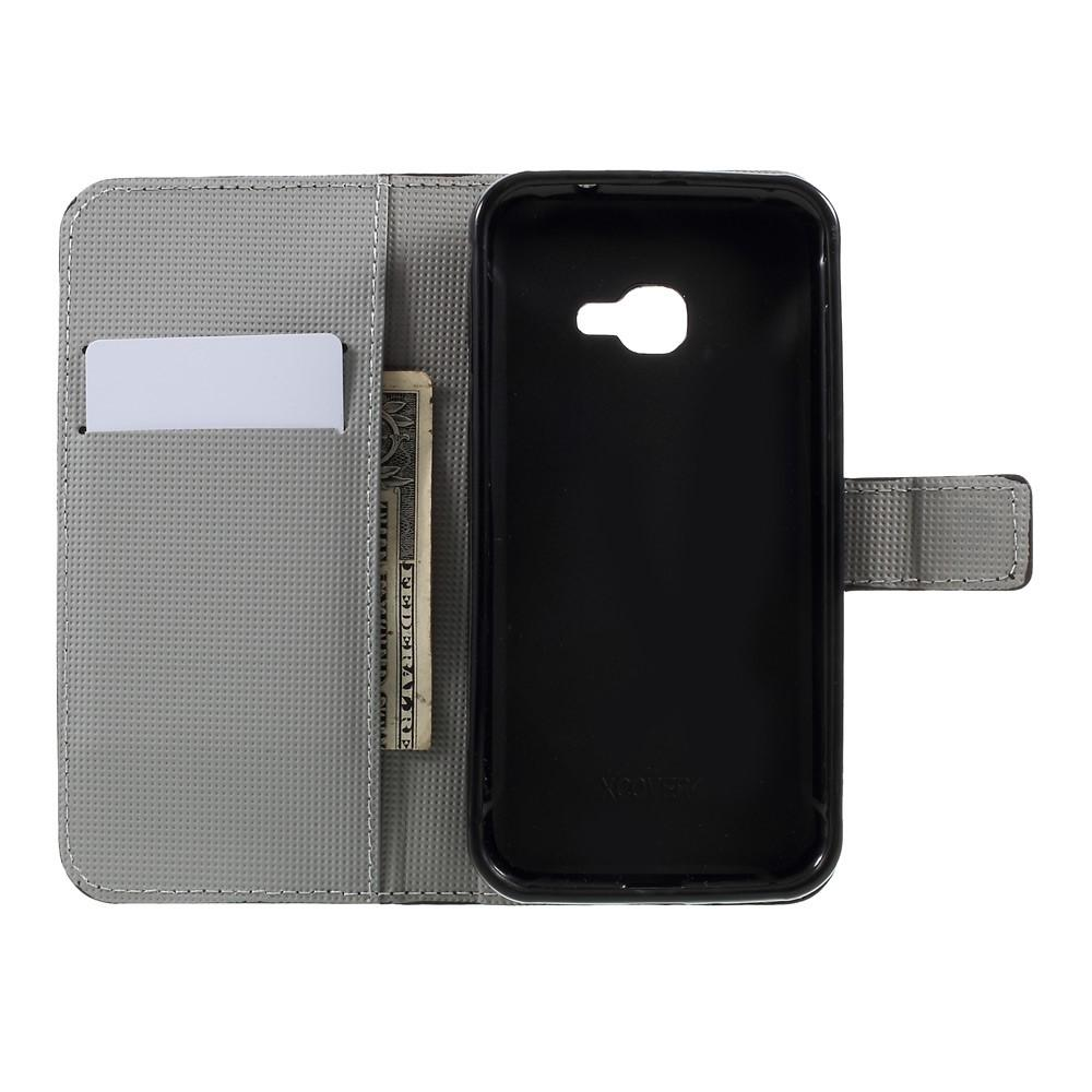 Plånboksfodral Samsung Galaxy Xcover 4/4s svart fjäril