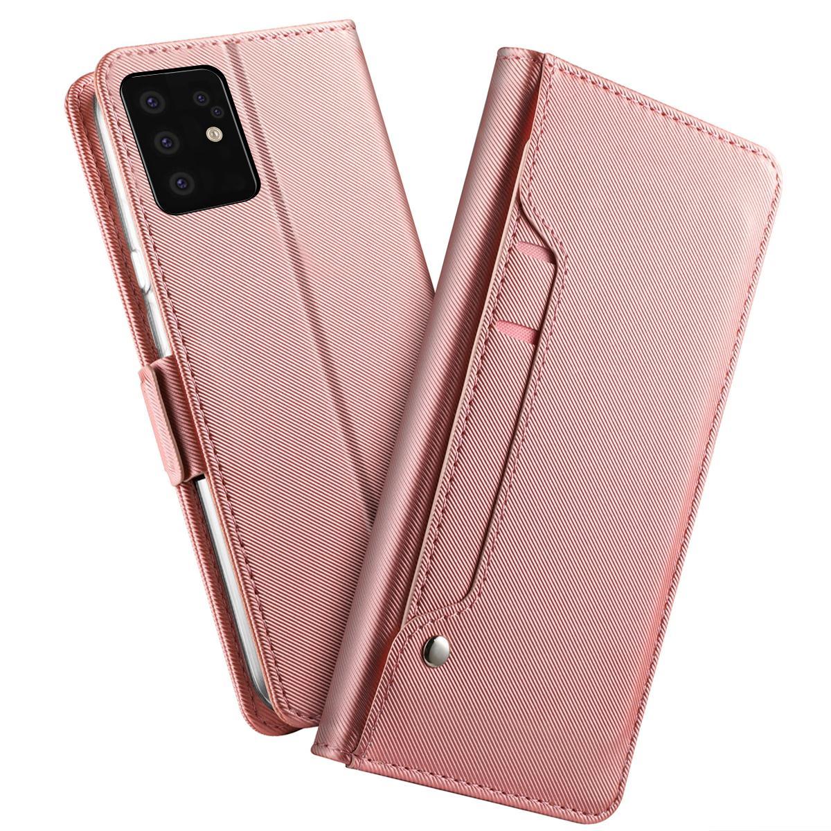 Plånboksfodral Spegel Galaxy S20 Plus Rosa Guld