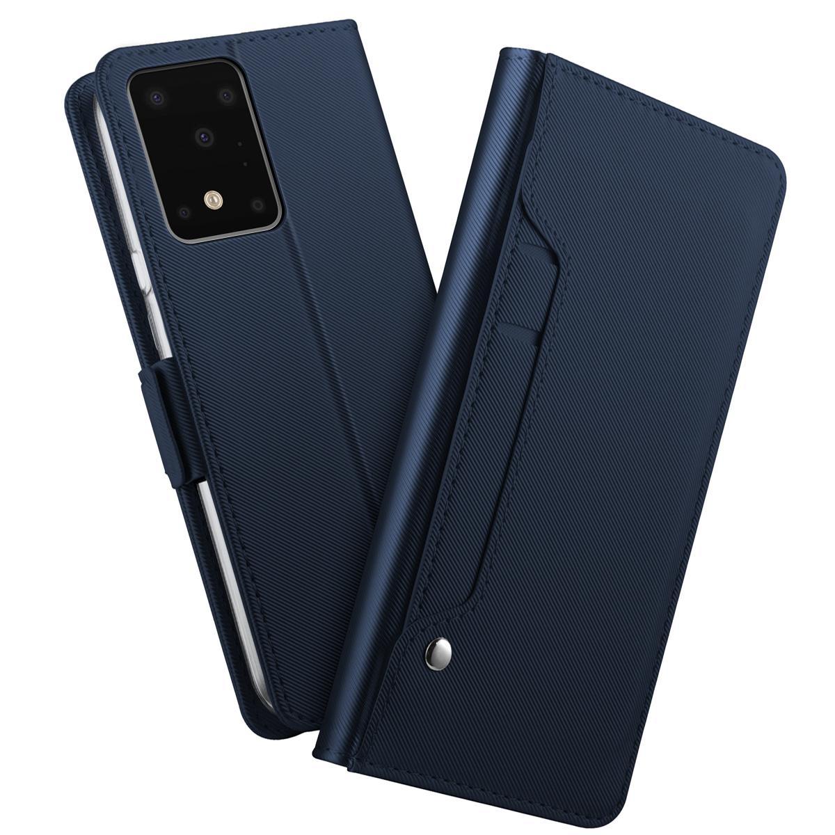 Plånboksfodral Spegel Galaxy S20 Ultra Marinblå