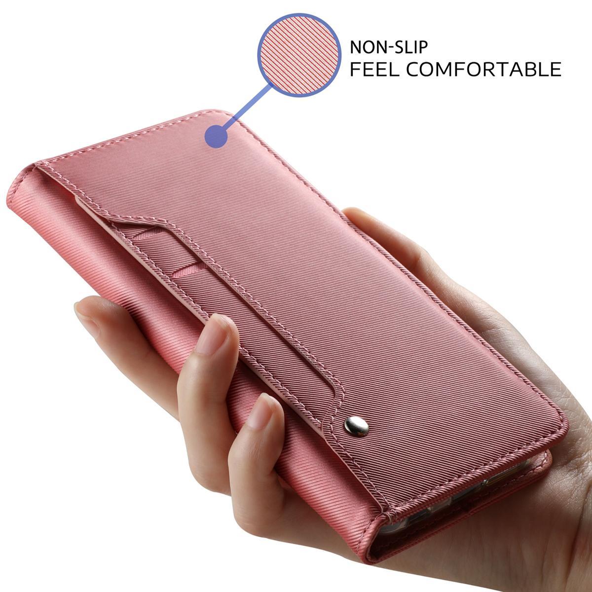 Plånboksfodral Spegel Galaxy S9 Plus Rosa Guld