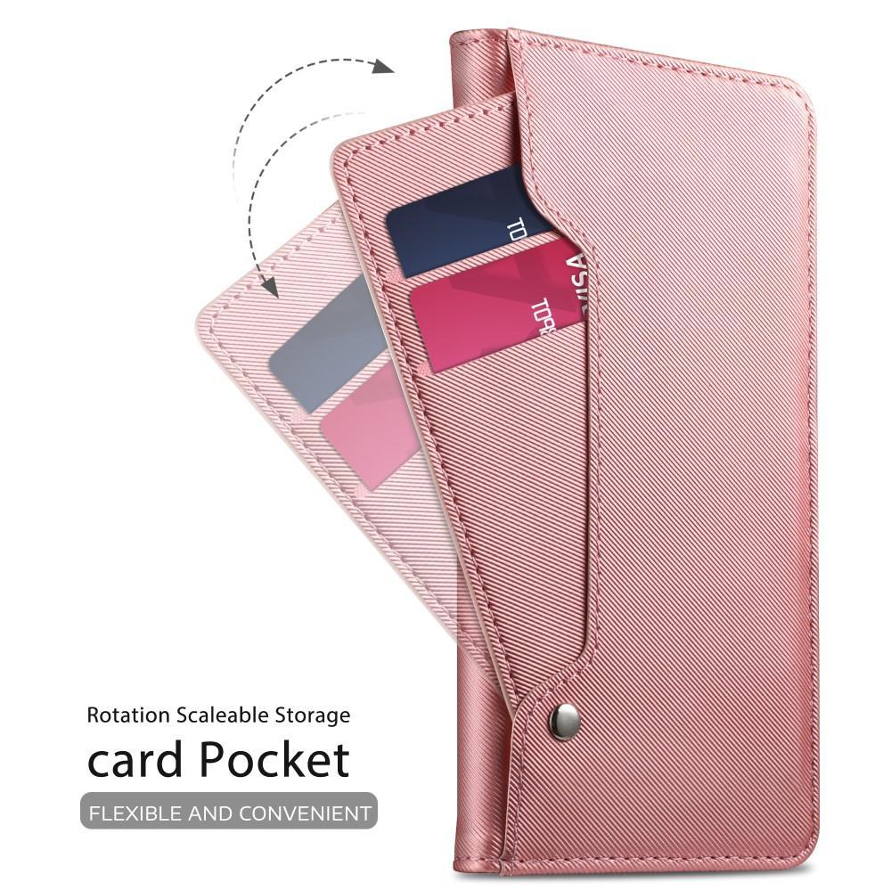 Plånboksfodral Spegel Huawei P20 Lite Rosa Guld