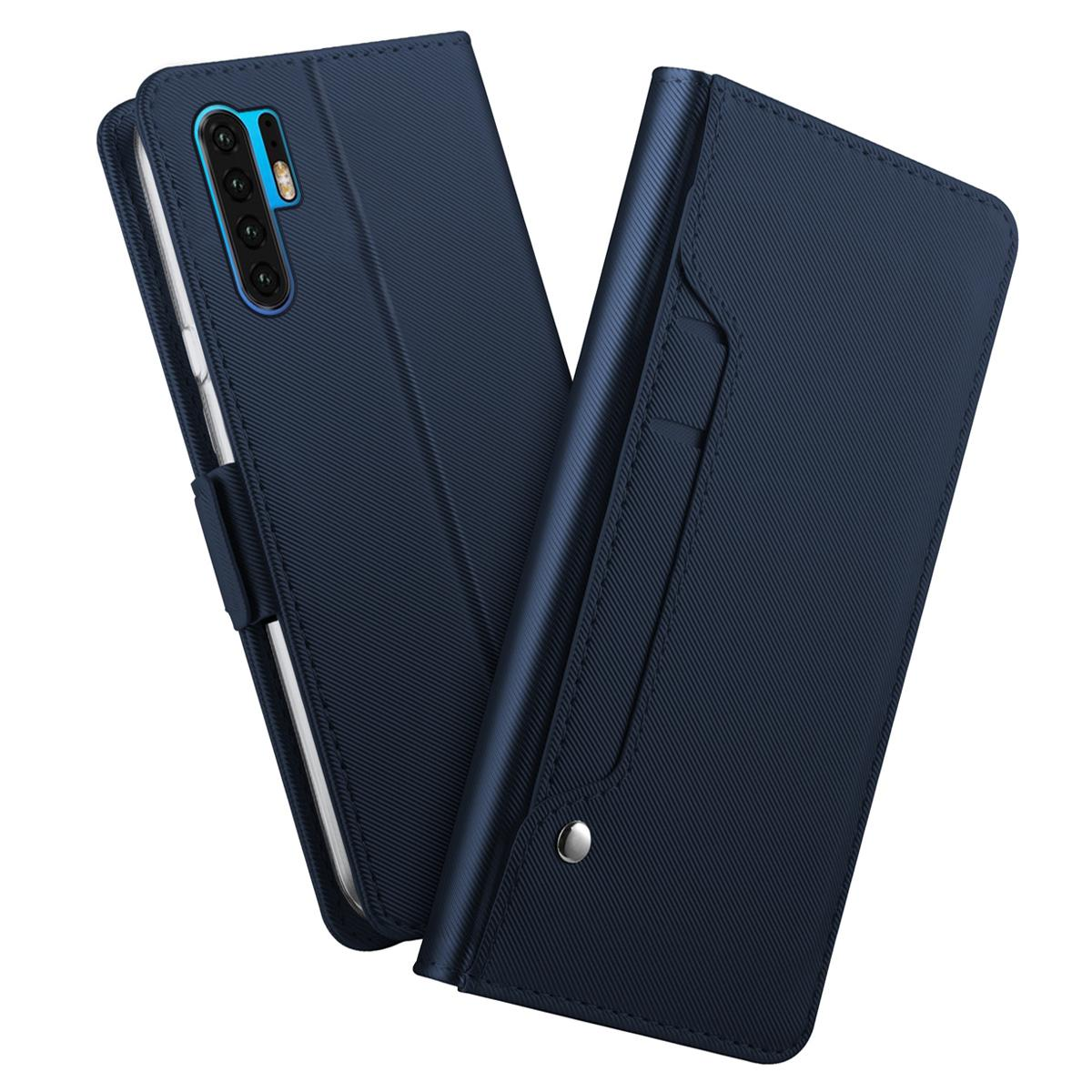 Plånboksfodral Spegel Huawei P30 Pro Marinblå