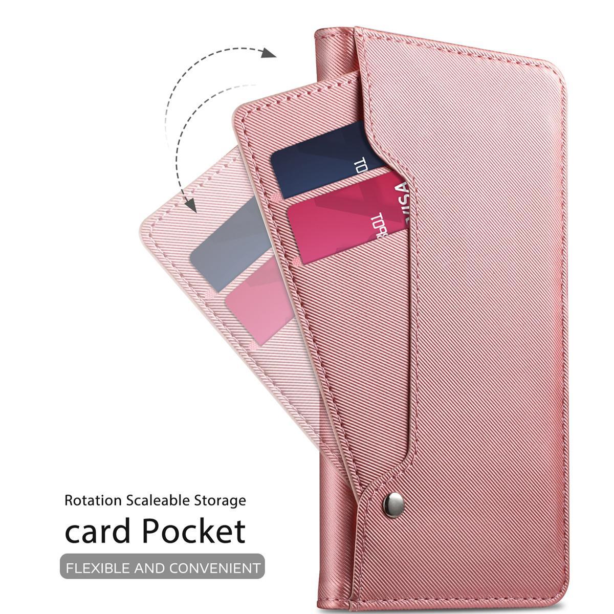 Plånboksfodral Spegel Huawei P30 Rosa Guld