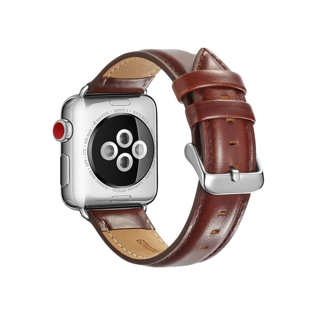 Premium Leather Armband Apple Watch 42/44 mm Brown