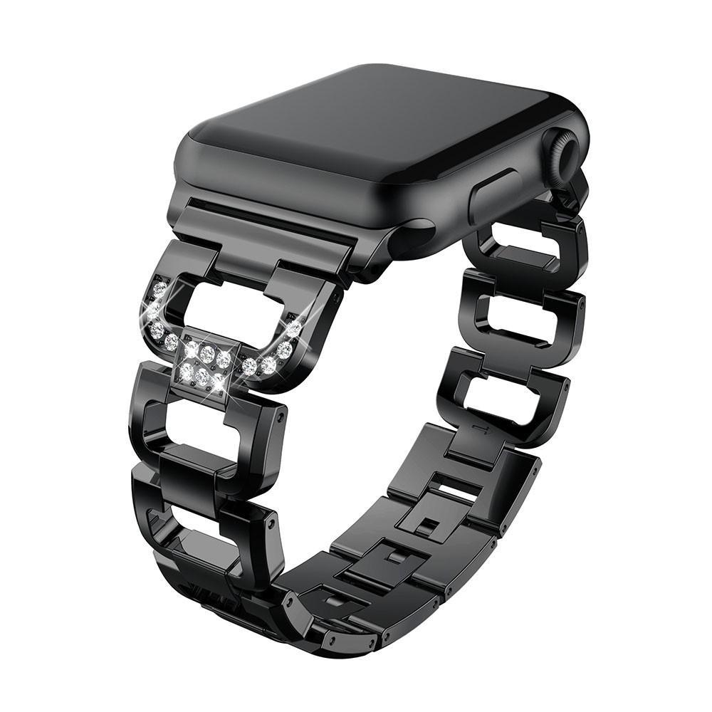 Rhinestone Bracelet Apple Watch 42/44 mm Black