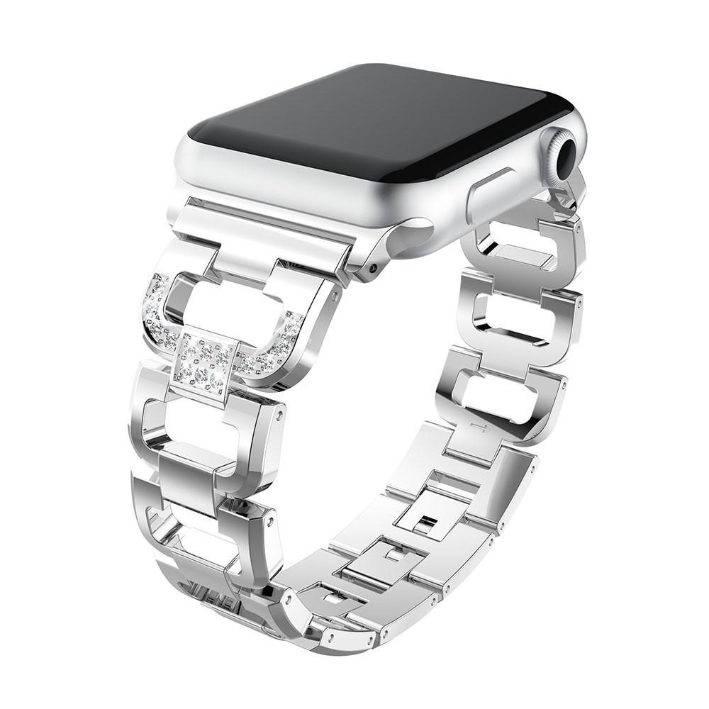 Rhinestone Bracelet Apple Watch 42/44 mm Silver