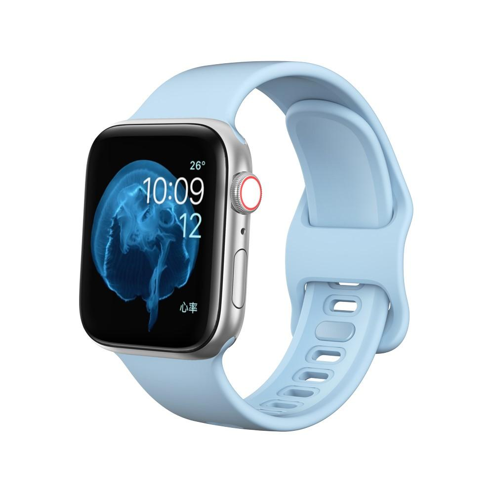 Silikonarmband Apple Watch 38/40 mm ljusblå