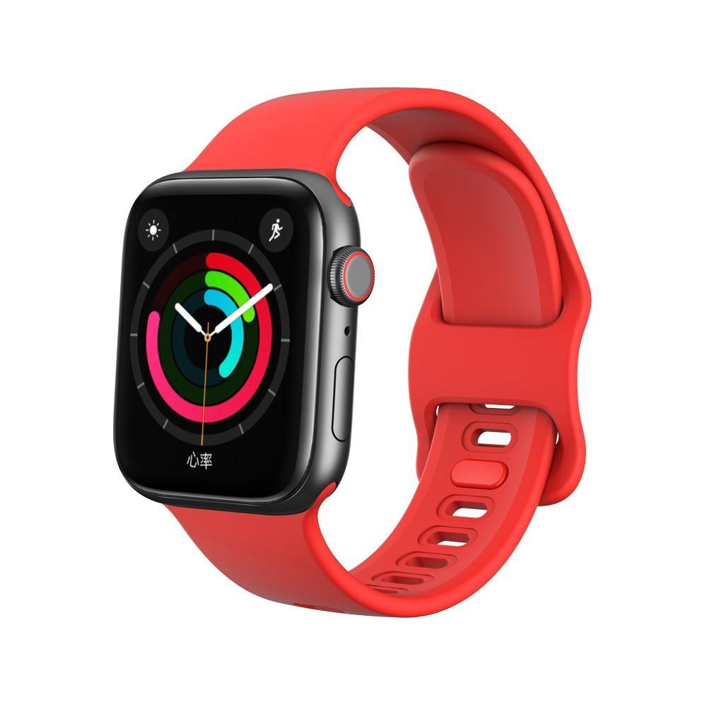 Silikonarmband Apple Watch 38/40 mm röd