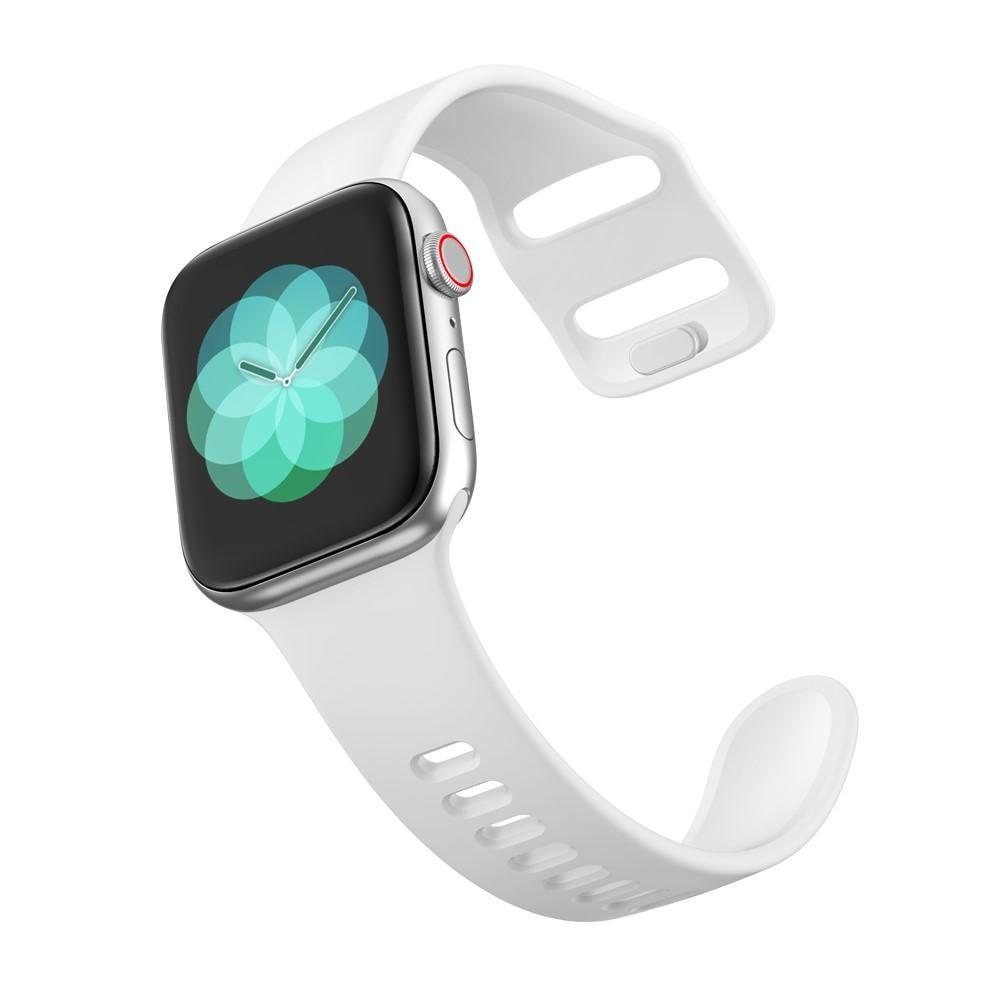 Silikonarmband Apple Watch 42/44 mm vit