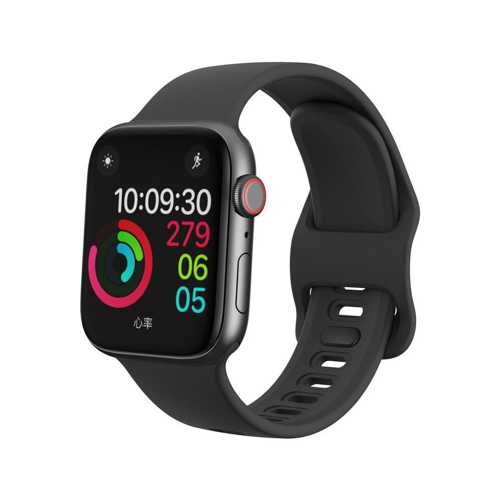 Silikonarmband Apple Watch 42/44/45 mm svart