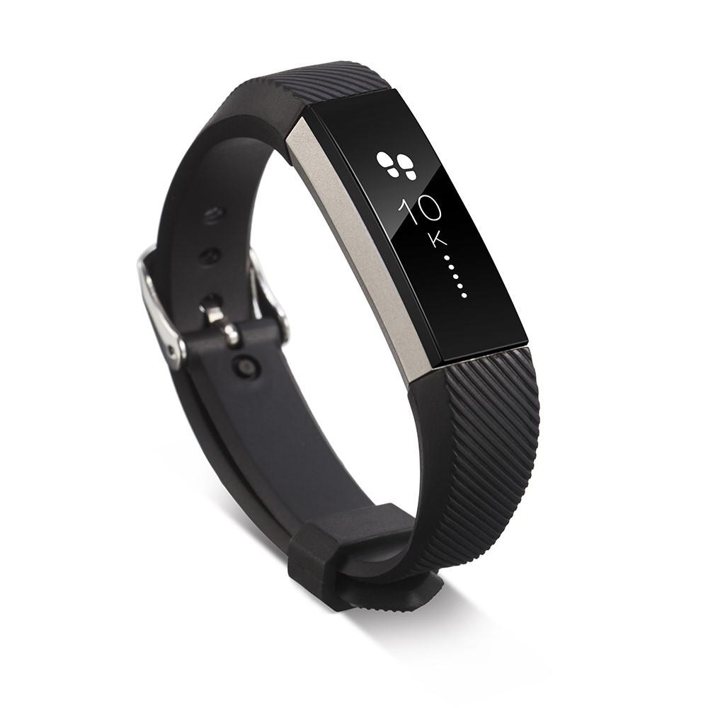 Silikonarmband Fitbit Alta/Alta HR svart