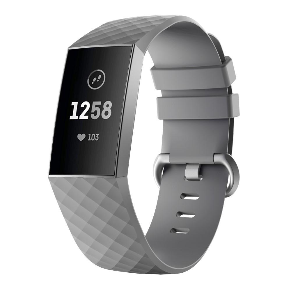Silikonarmband Fitbit Charge 3/4 grå