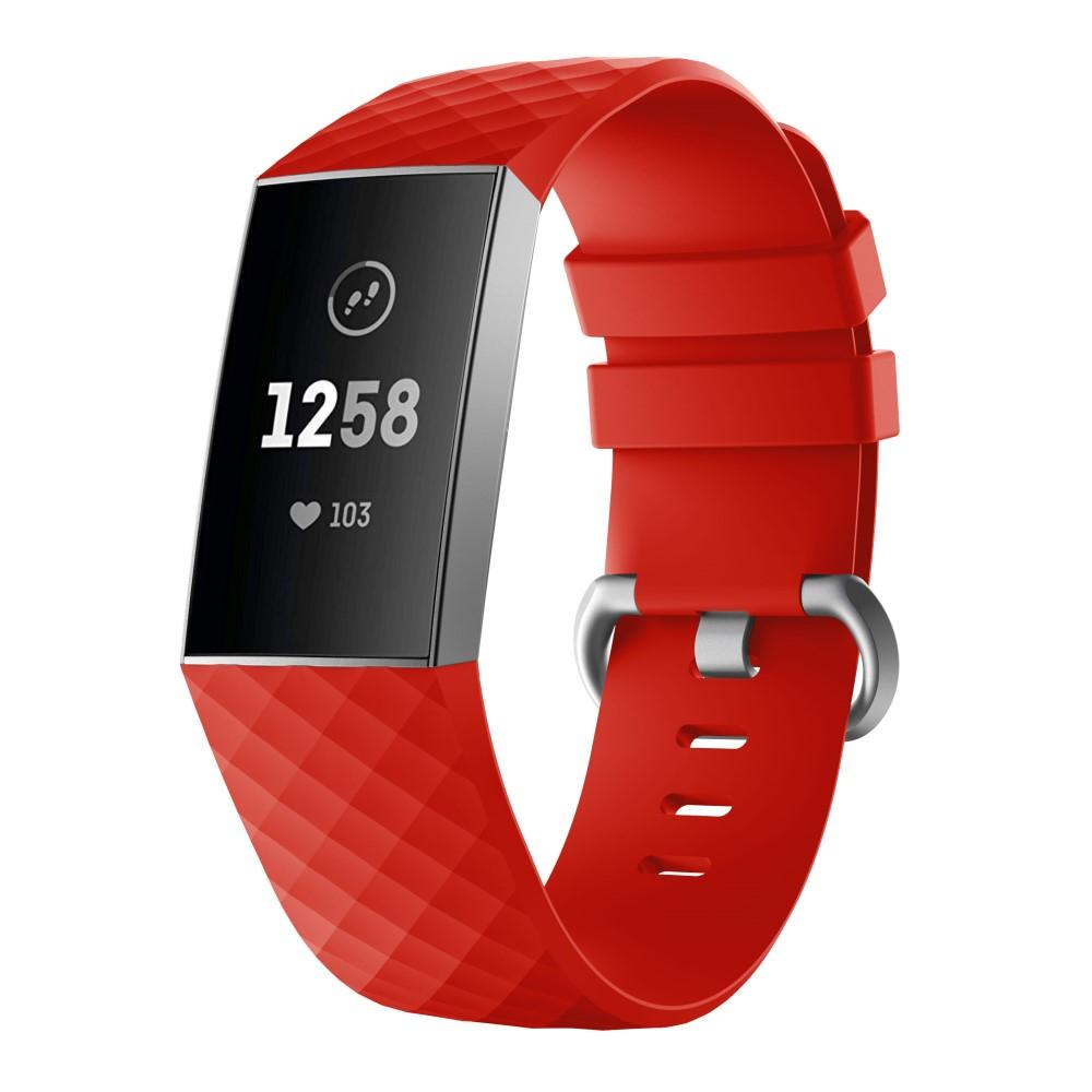 Silikonarmband Fitbit Charge 3/4 röd