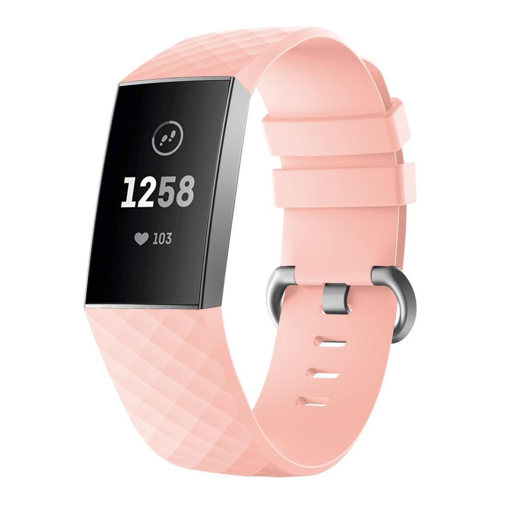 Silikonarmband Fitbit Charge 3/4 rosa