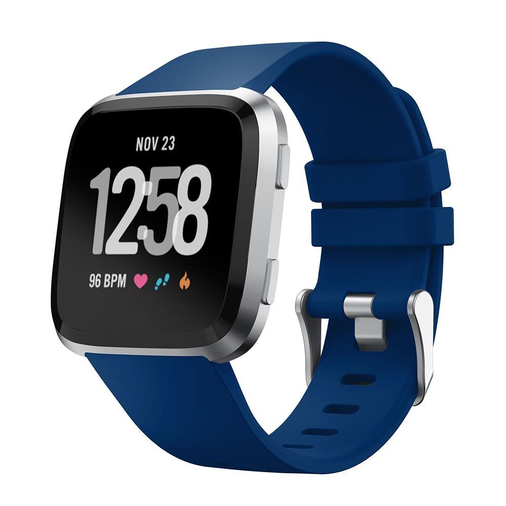Silikonarmband Fitbit Versa/Versa 2 blå