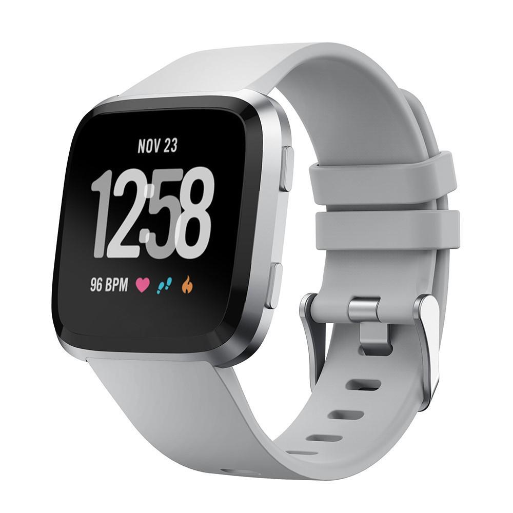 Silikonarmband Fitbit Versa/Versa 2 grå