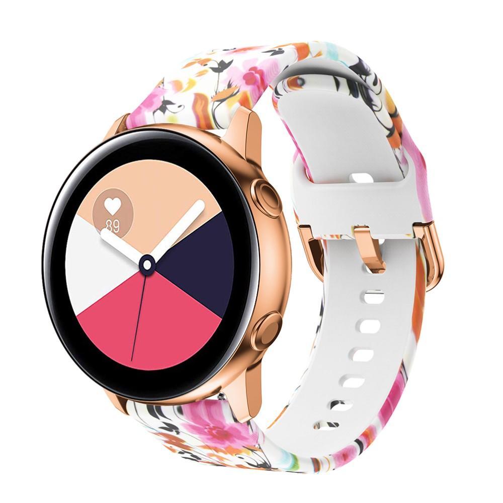 Silikonarmband Galaxy Watch 42mm/Active blommor