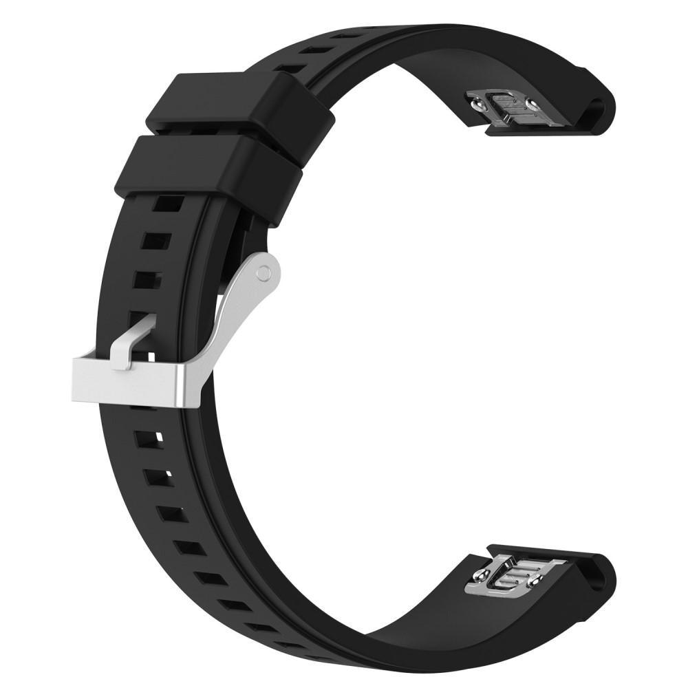 Silikonarmband Garmin Fenix 3/3 HR/5X/5X Plus svart