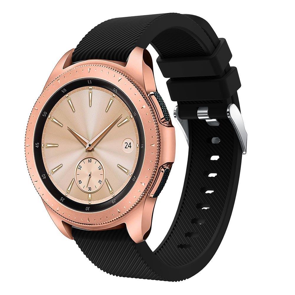 Silikonarmband Samsung Galaxy Watch 42mm svart