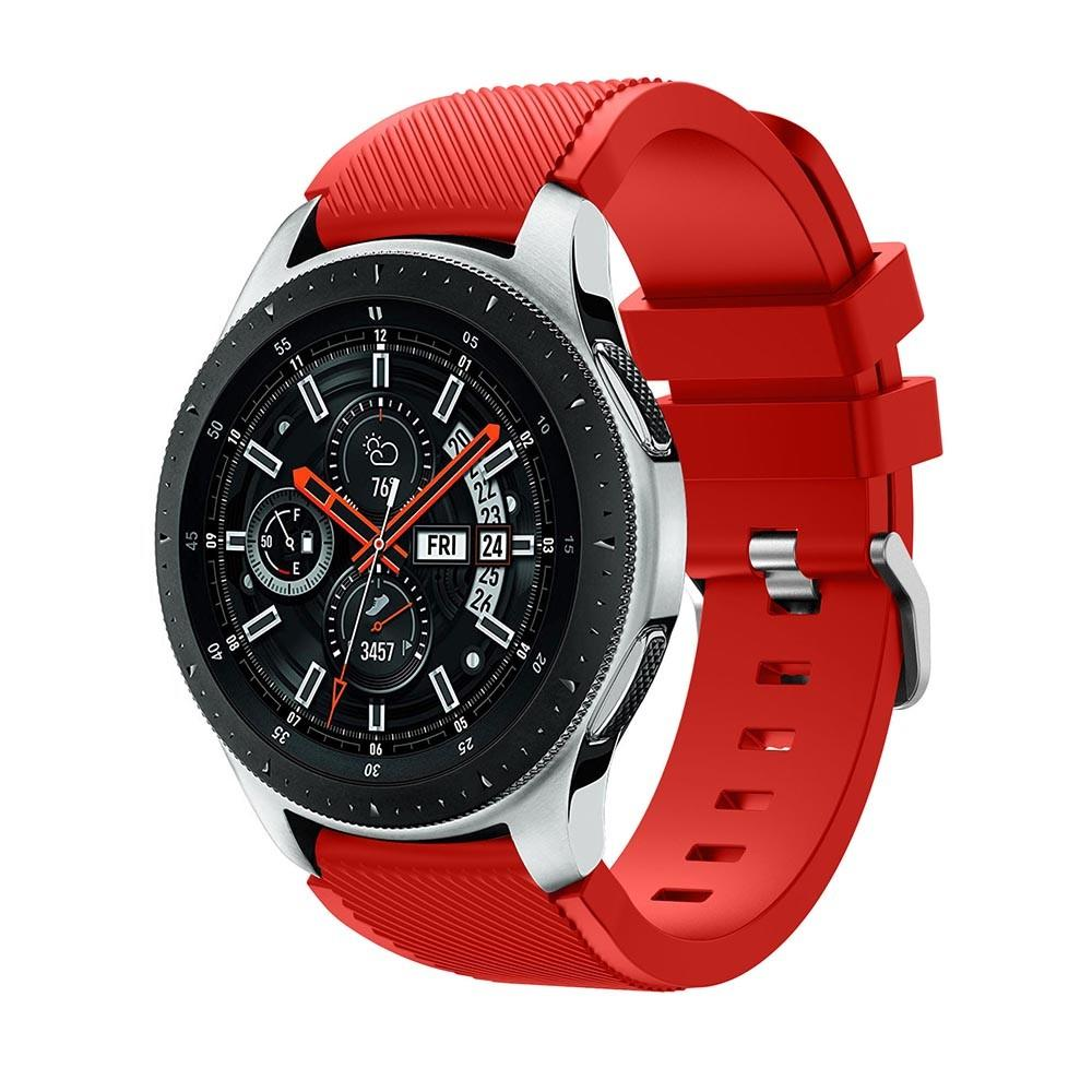 Silikonarmband Samsung Galaxy Watch 46mm röd