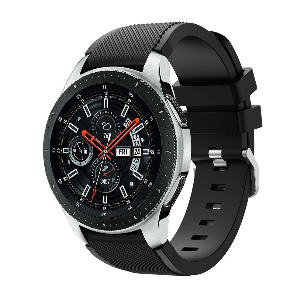 Silikonarmband Samsung Galaxy Watch 46mm svart