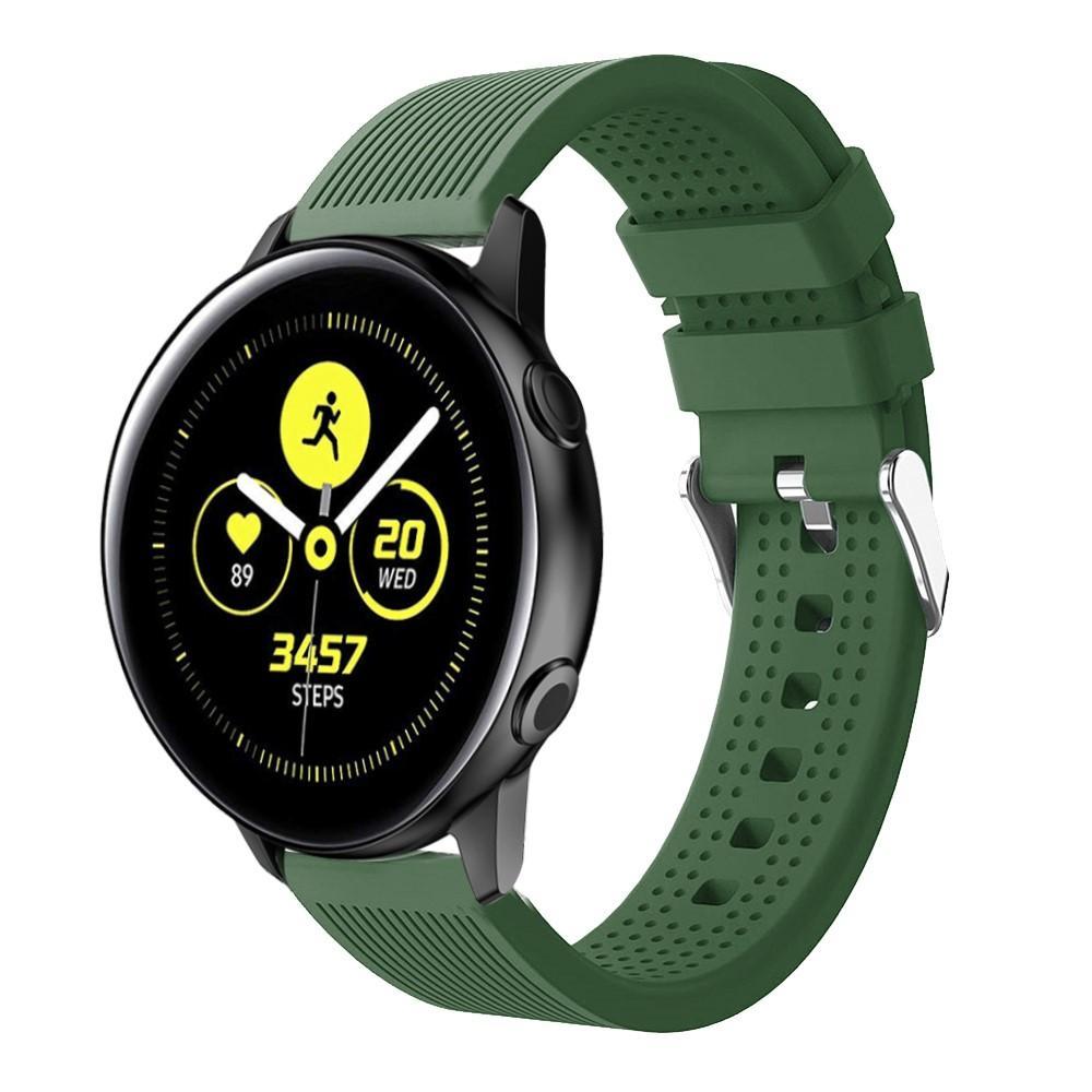 Silikonarmband Samsung Galaxy Watch Active grön
