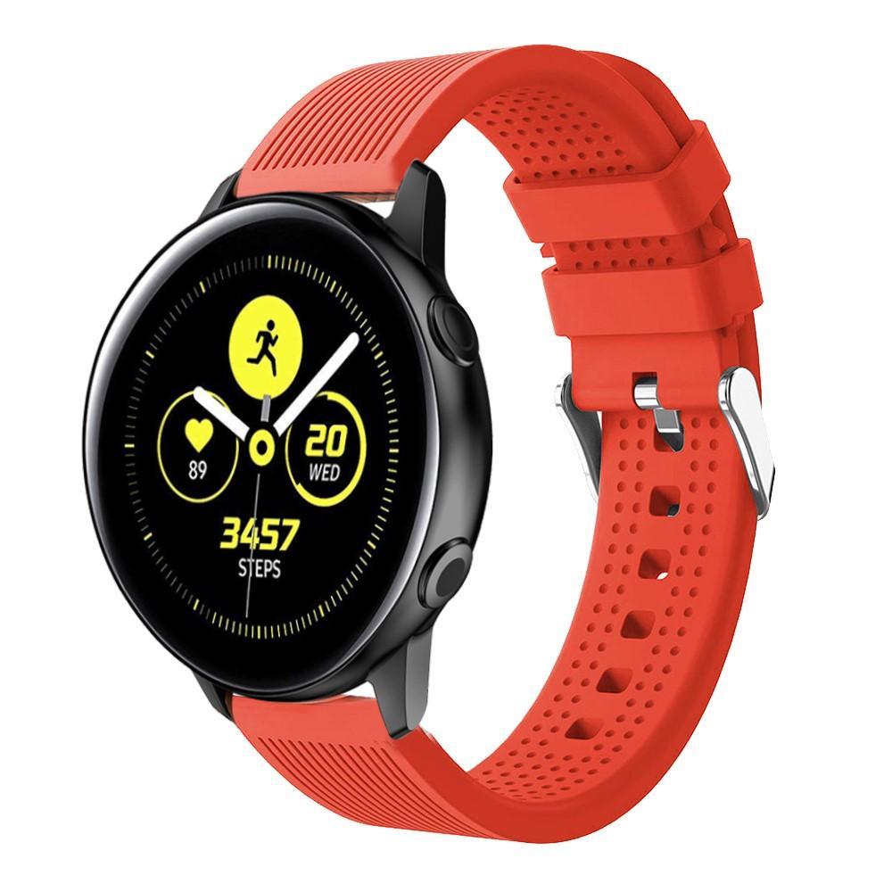 Silikonarmband Samsung Galaxy Watch Active/42mm röd