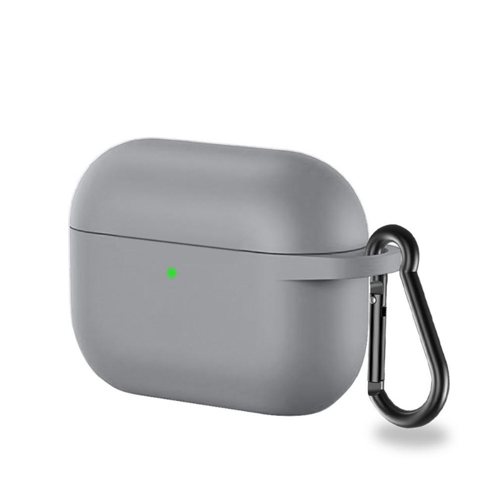 Silikonskal med karbinhake Apple AirPods Pro grå
