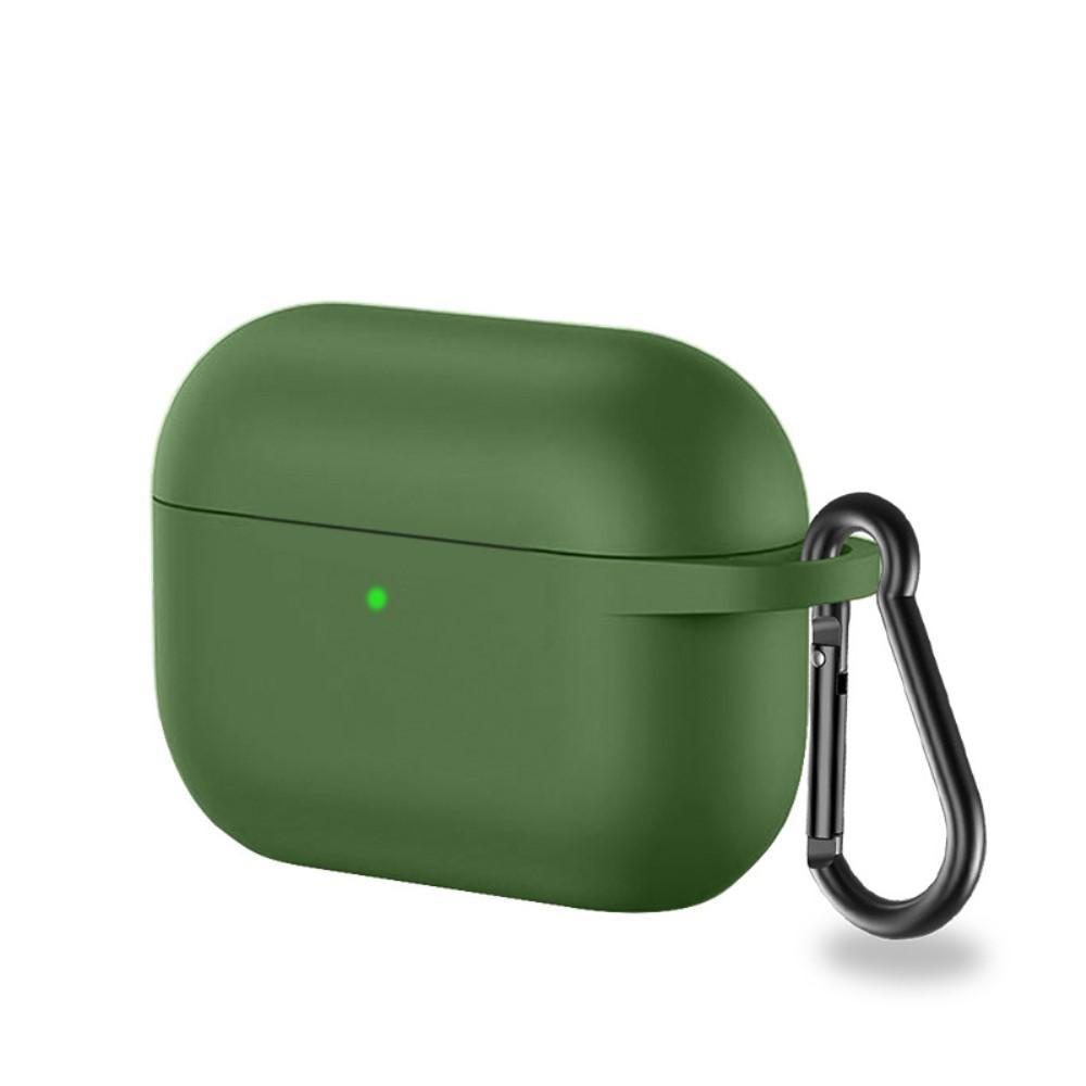 Silikonskal med karbinhake Apple AirPods Pro grön