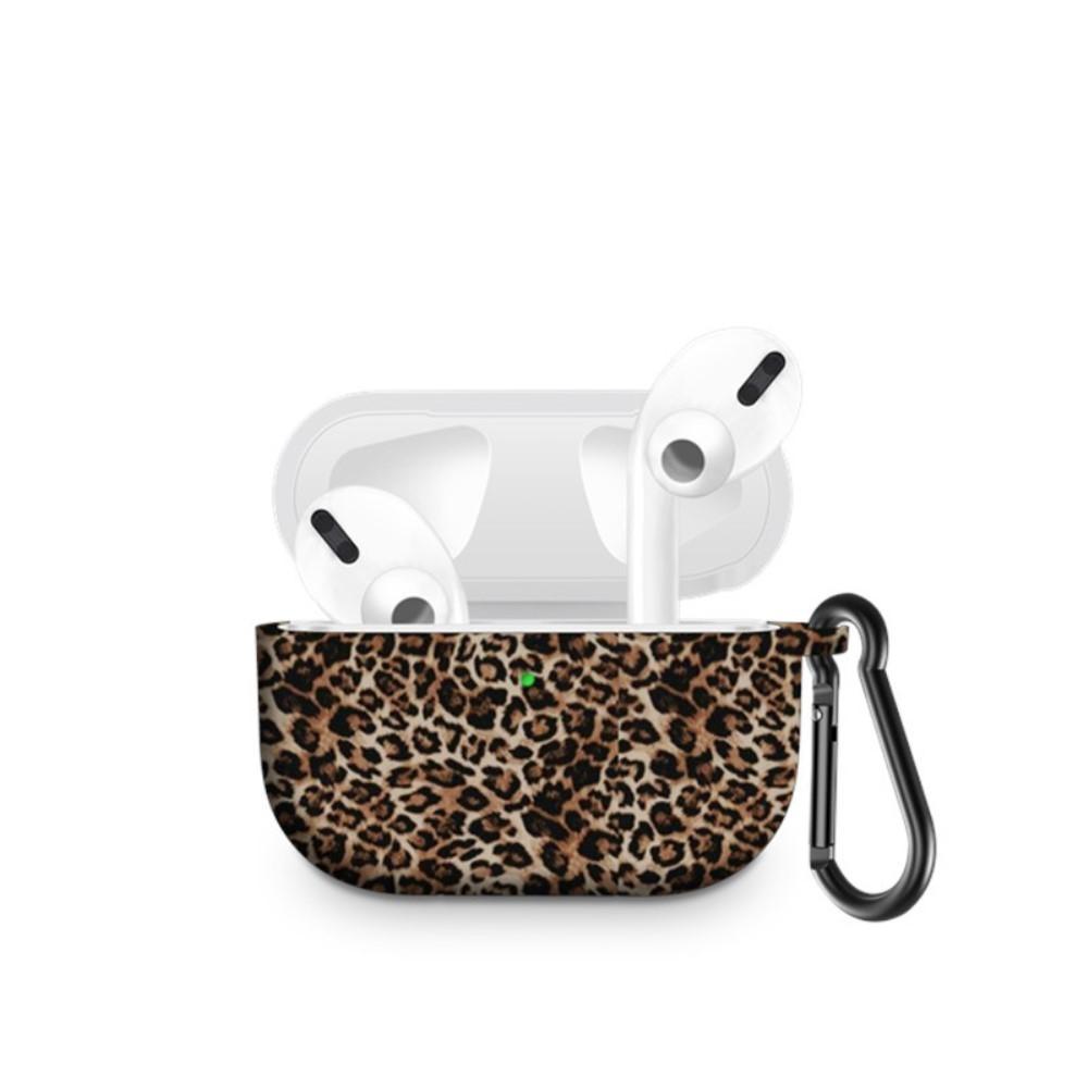 Silikonskal med karbinhake Apple AirPods Pro leopard