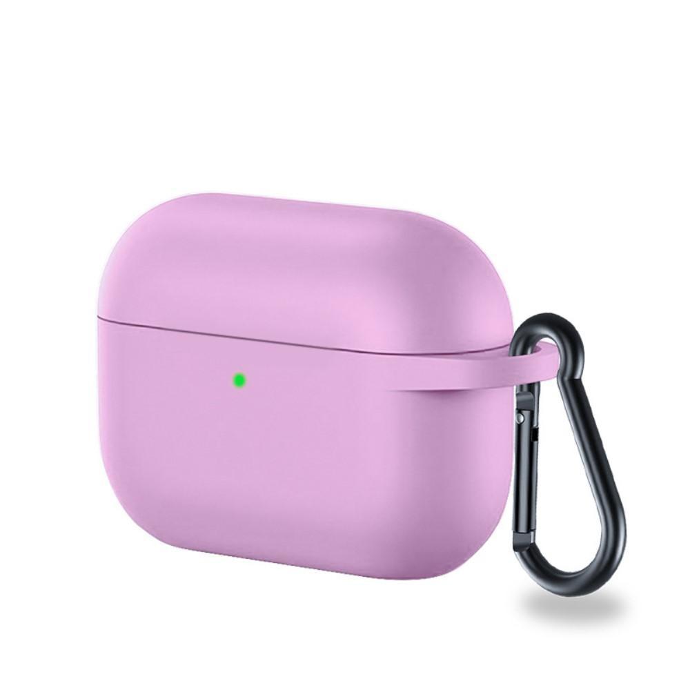 Silikonskal med karbinhake Apple AirPods Pro lila