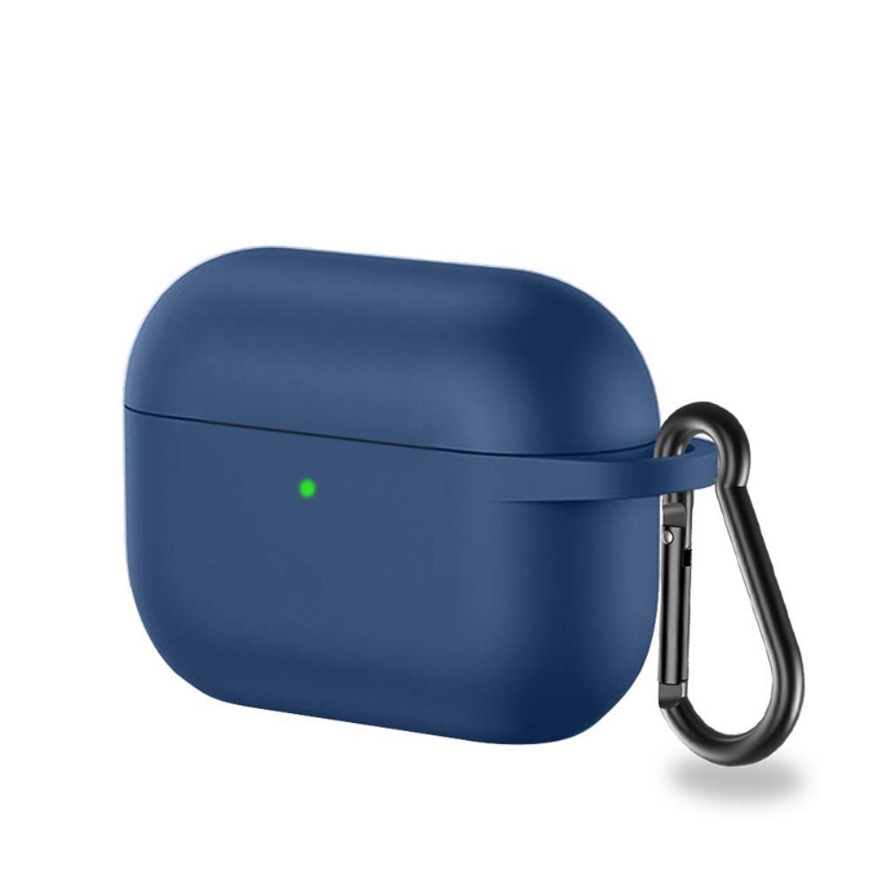 Silikonskal med karbinhake Apple AirPods Pro marinblå
