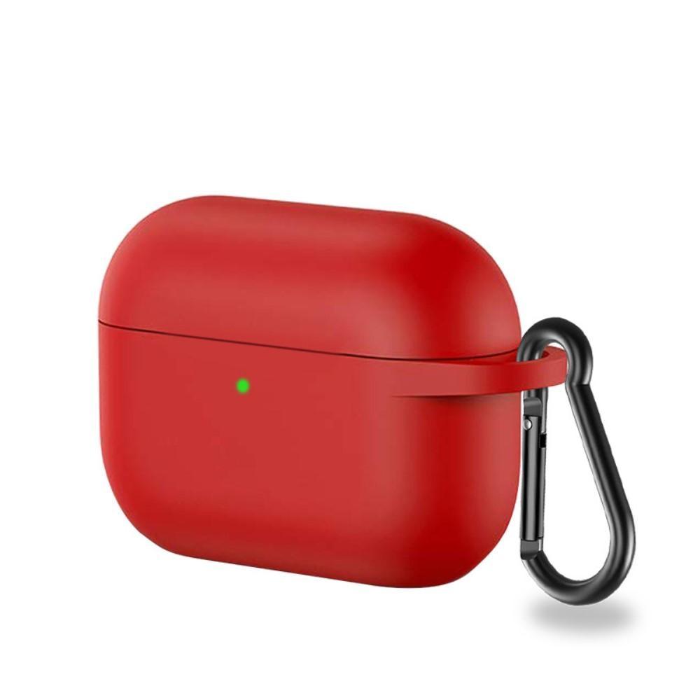 Silikonskal med karbinhake Apple AirPods Pro röd