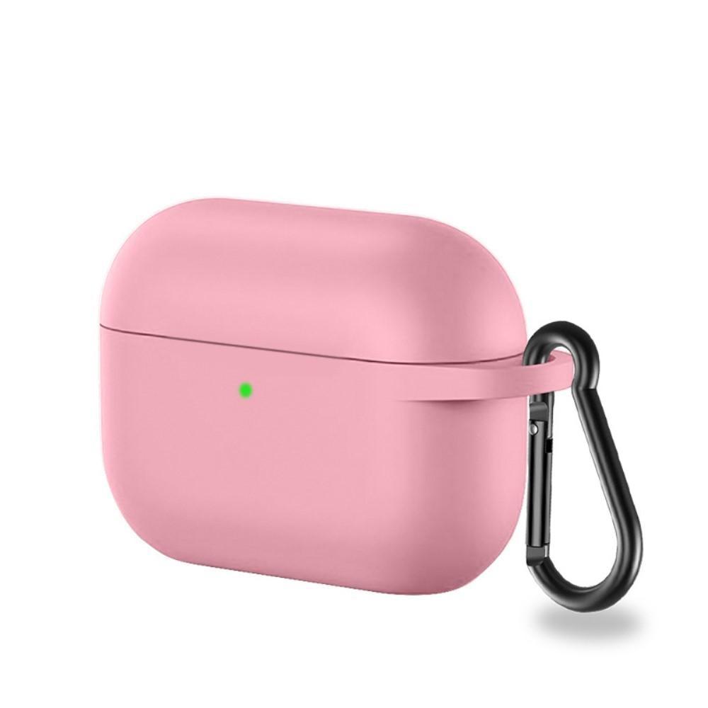 Silikonskal med karbinhake Apple AirPods Pro rosa