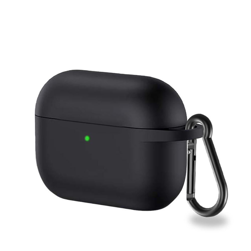 Silikonskal med karbinhake Apple AirPods Pro svart