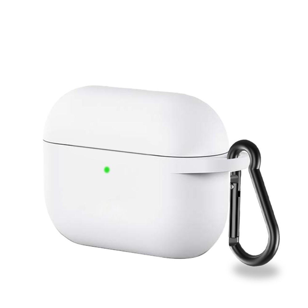 Silikonskal med karbinhake Apple AirPods Pro vit