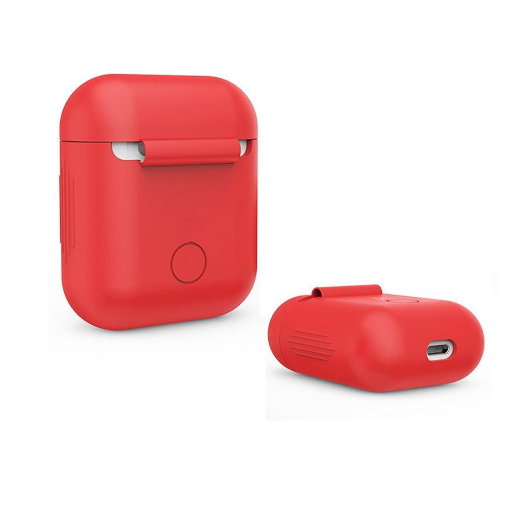 Silikonskal Apple AirPods röd