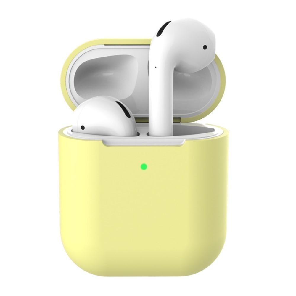 Silikonskal Apple AirPods Trådlöst Laddningsetui gul