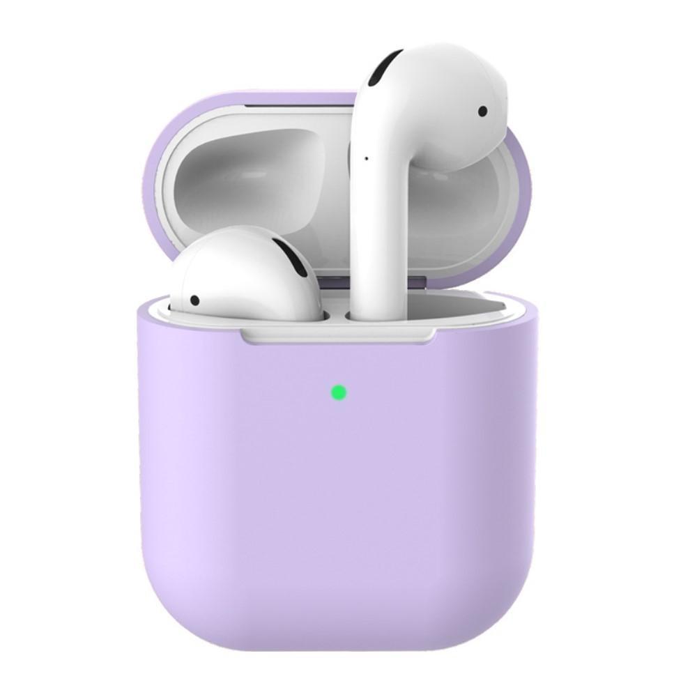 Silikonskal Apple AirPods Trådlöst Laddningsetui lila