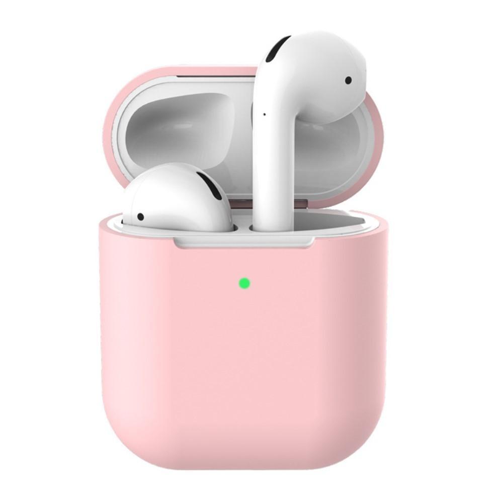 Silikonskal Apple AirPods Trådlöst Laddningsetui rosa