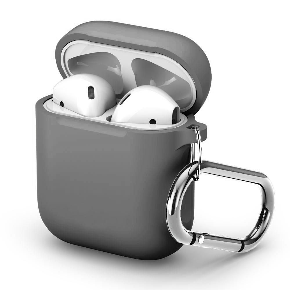 Silikonskal med karbinhake Apple AirPods grå