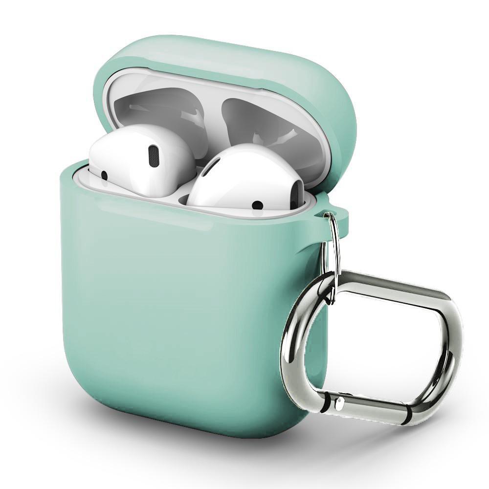 Silikonskal med karbinhake Apple AirPods turkos