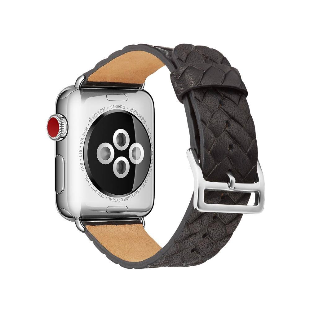 Woven Leather Band Apple Watch 38/40 mm Black