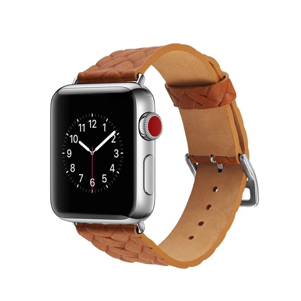 Woven Leather Band Apple Watch 38/40 mm Cognac