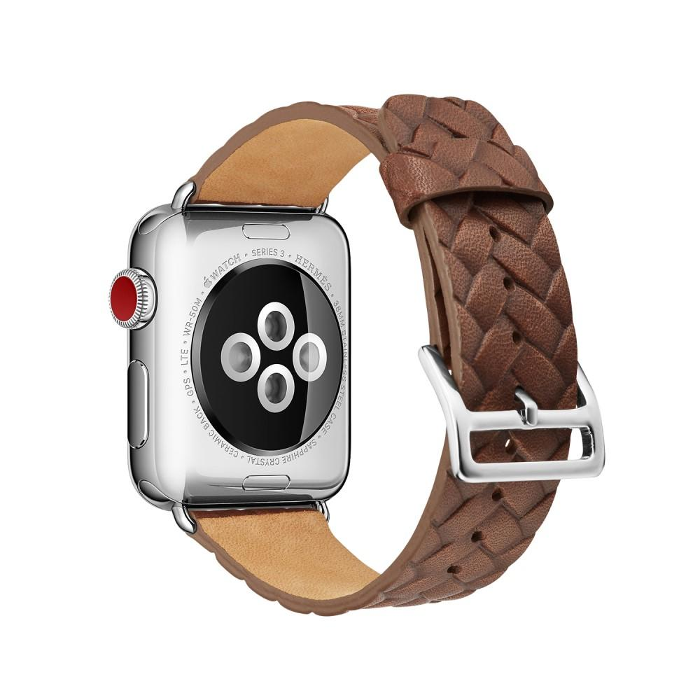 Woven Leather Band Apple Watch 42/44/45 mm Brown