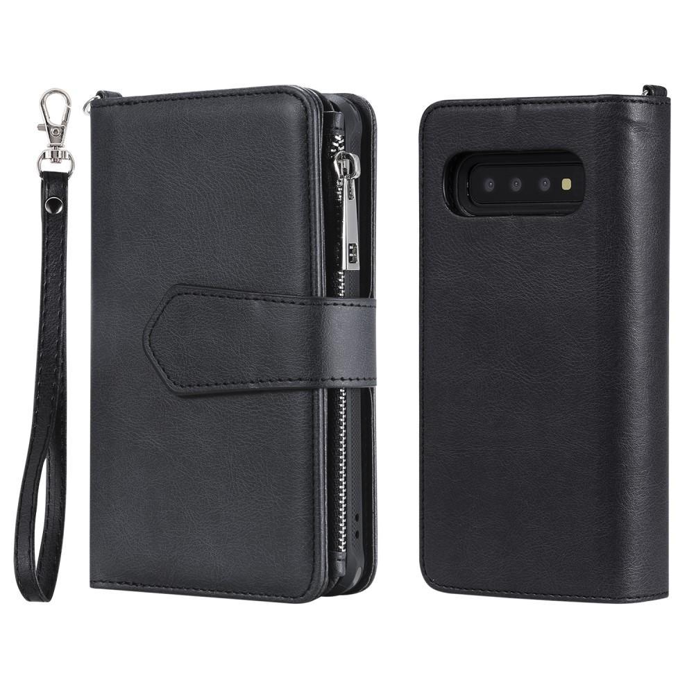 Zipper Magnet Wallet Galaxy S10 svart
