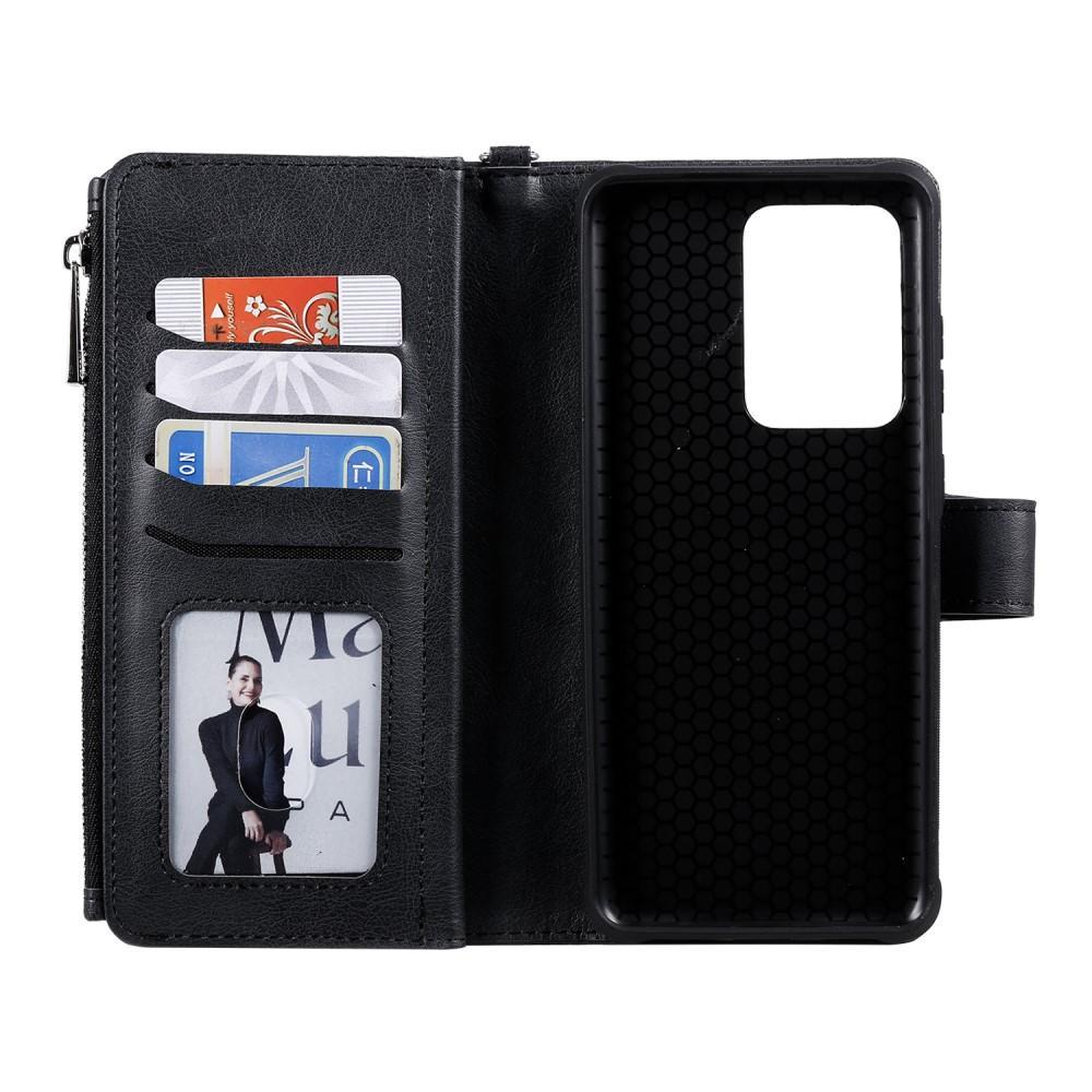 Zipper Magnet Wallet Galaxy S20 Ultra svart